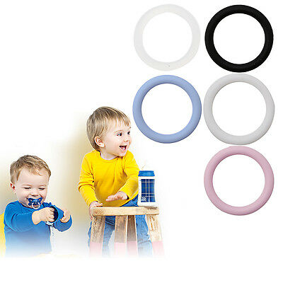 5Pc Food Quality BPA Free Clear Silicone O-rings Baby Pacifier Clips Pacifier