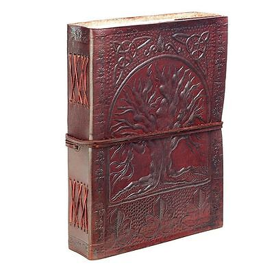 Large Diary Leather Recycled Tree Life Pegan Celtic Embossed Notebook Journal