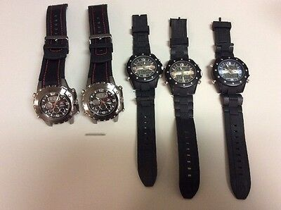 Lot of 5 (5x) US Polo Assn Watch Watches - Defective - For Parts or Repair