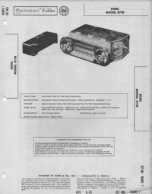 1958 ford edsel 87se radio service manual photofact schematic car rh picclick com 1956 Ford Owners Manuals 2002 Ford Expedition Owner's Manual