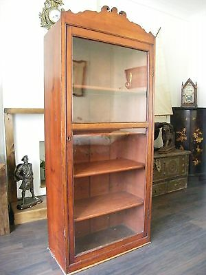ANTIQUE CHEIMIST SHOP DISPLAY CABINET LIBRARY BOOKCASE COLLECTORS CABINT c1890