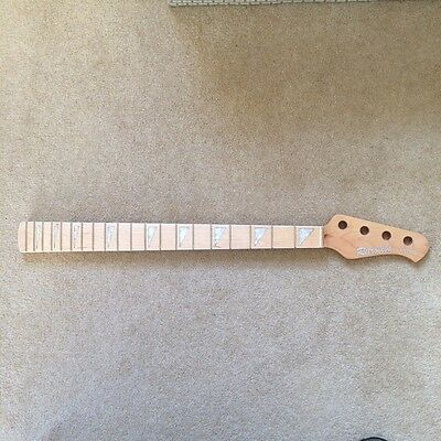 NEW Retrovibe Vantage Bass guitar neck all maple blocks and binding