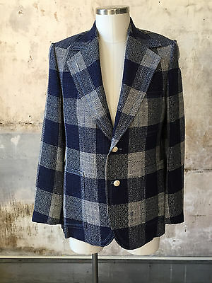 Vintage 80s Large Plaid Patchwork Cheezy Sport Coat LARGE/ XL Boys Country Club