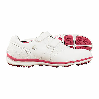 45% OFF NEW Foot Joy Casual Shoes Leather Ladies Womens Golf White Pink