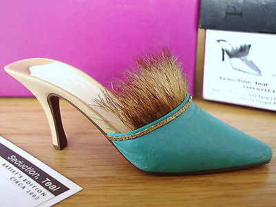 Just The Right Shoe - Seduction, Teal #25233 Artist's Edition