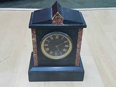 Antique WATERBURY / Hart Bros Brooklyn Marble Mantle Clock- 1880s Very Nice
