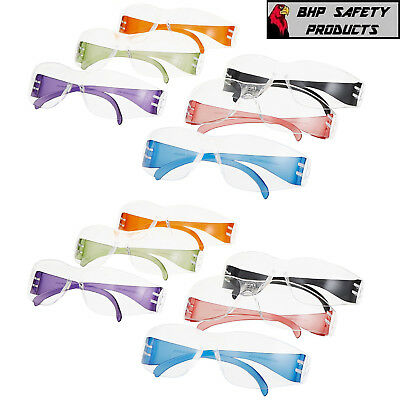 Pyramex Intruder Safety Glasses Multi Color #s4110Smp Clear Lens 12/box Adult Sz