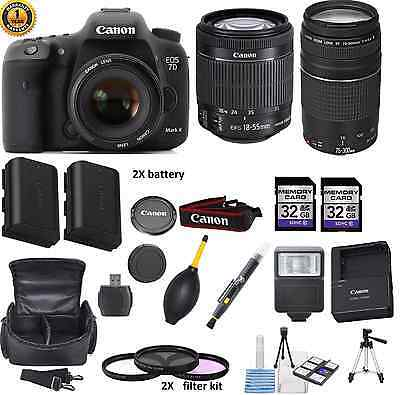 Canon EOS 7D II Digital SLR Camera with lens (MK 2 Mark II DSLR) WITH PKG DEAL
