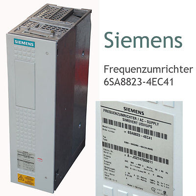 Siemens Frequency Converter 6Sa8823-4Ec41 D380-460D380-460/34Lm6Re 3 Phase 380V
