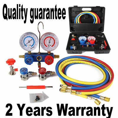 R134A R12 R22 R502 HVAC A/C Refrigeration AC Manifold Gauge Set Car Serivice Kit