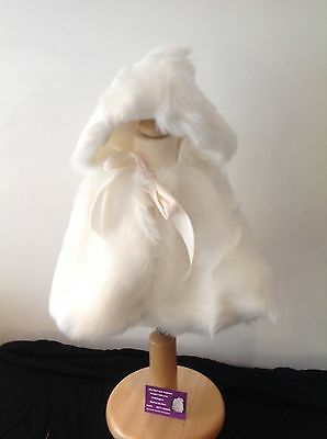 cream fur cape 12-18 months