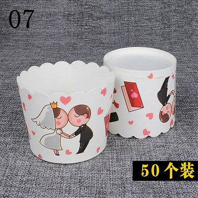 New 50pcs Paper Cupcake Liner Cake Case Muffin Baking Cup Wedding Party v4
