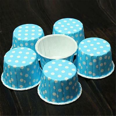 100pcs Colorful Paper Cake Cupcake Liner Case Wrapper Muffin Baking Cup v5