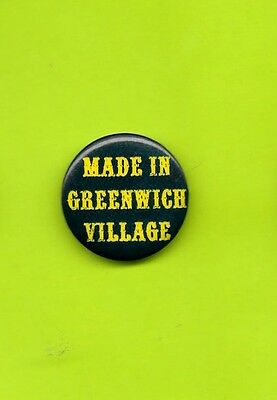 Made in Greenwich Village 1960's button badge pinback mint condition