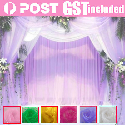 New 3M x 1.5M Crystal Sheer Organza Fabric Material Wedding Event Party Decorati