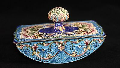 Feodor Ruckert Silver & Enameled Ink Blotter Late 19Th Century