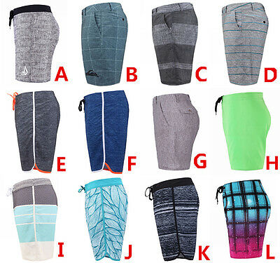 QUIKSILVER 4-Way Stretch Boardshorts Mens Beachshorts Surf Pants Bermudas Shorts