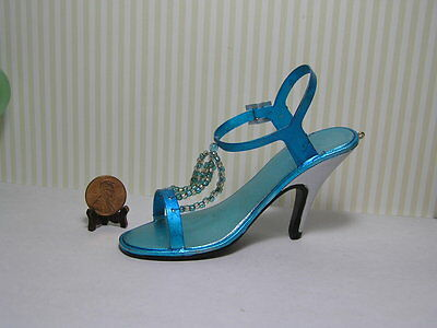 Decorative Shoe / Turquoise and Silver
