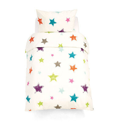 100% Cotton Baby Cot Toddler Quilt Cover & Pillowcase Color Star 2 Pieces Sets