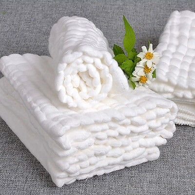 Soft Cotton Baby Infant Washcloth Bath Towel Newborn Bathing Feeding Wipe Cloth