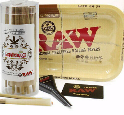 RAW Cones King Size  50 Count With Rolling Tray and Raw Loader