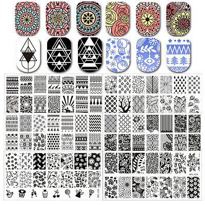 36patterns Nail Art Stamping Schablonen Stempel Plates DIY BORN PRETTY L-Series