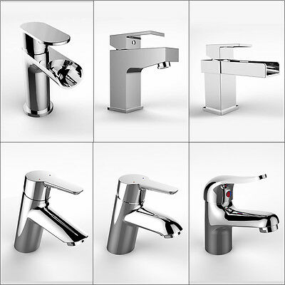 Modern Bathroom Waterfall Chrome Basin Mixer Tap Cloakroom Sink