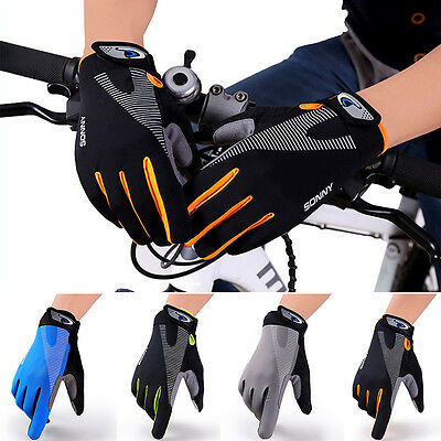 Full Finger Racing Motorcycle Touchsreen Cycling Bicycle MTB Bike Riding Gloves