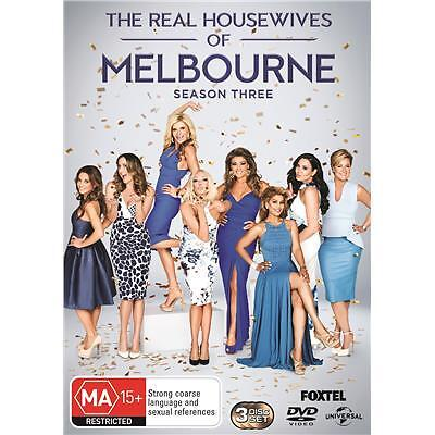 The Real Housewives Of Melbourne : Season 3 (DVD, 2016, 3-Disc Set) (Region 4)