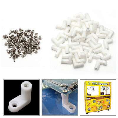 40Pcs/Set L Type PCB Mounting Feet with Screw for Arcade JAMMA MAME Game Board