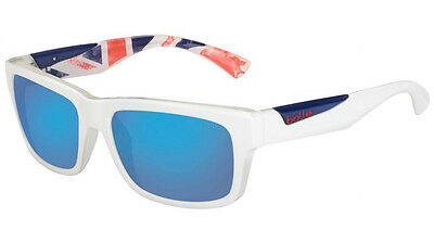 Bollé Jude Sunglasses - Matt White Team GB Frame / Polarized Offshore Blue Lens