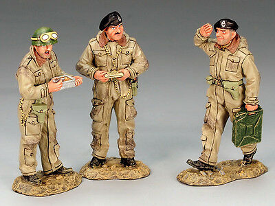 King and (&) Country DD136 - Dismounted British Tank Crewmen - Retired