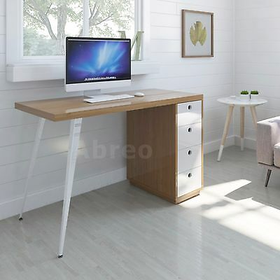 PC Computer Desk Workstation Table Home Office Furniture - 4 Drawer Retro