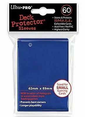 60 Deck Protector Sleeves Ultra Pro YuGiOh SMALL BLUE Blu Bustine Protettive