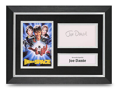 Joe Dante Signed A4 Photo Framed InnerSpace Memorabilia Autograph Display COA