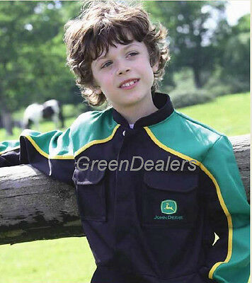 John Deere Childs Kids Super Deluxe Overalls available in all sizes 3 - 12 years