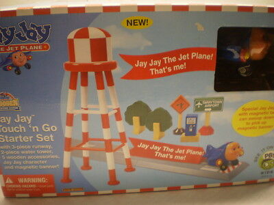 Childrens Wooden Toy Set Kids Toddler Jay Jay The Jet Plane Tarrytown Airport