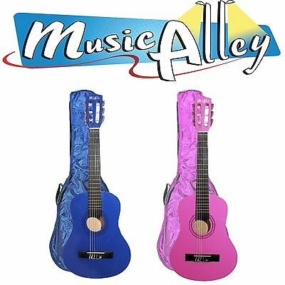 Music Alley Pink & Blue 1/2 Size Junior Childrens Acoustic Guitar Inc Case
