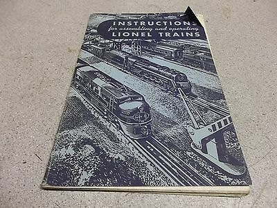 """Instructions for Assembling and Operating Lionel Trains"" 1949 Model Railroad"