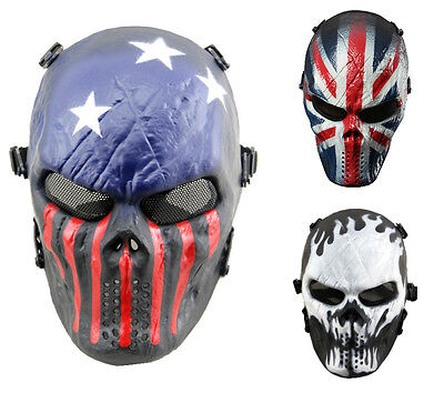 Halloween Mask Airsoft Skull Full Face Protective Mask Protection Paintball