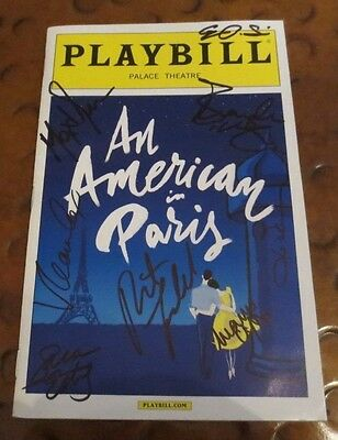 An American in Paris Broadway Play Playbill current cast signed autographed