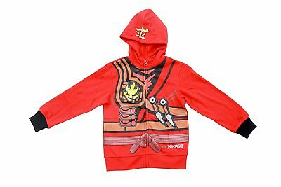 Boys Lego Movie Ninjago Red Two-Piece Zip-Up Costume Hoodie & Sweatpants Set