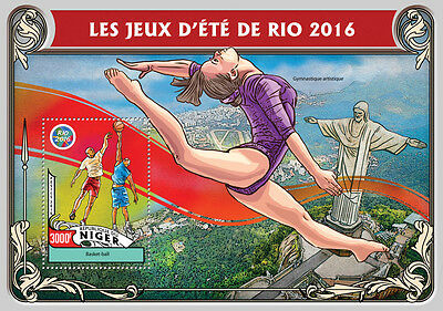 Niger 2016 MNH Olympic Summer Games Rio 1v S/S Basketball Olympics Stamps