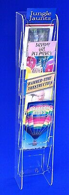 Trifold Holders | Wall Mounting Trifold Display Rack | Rack Card Display 2 sizes