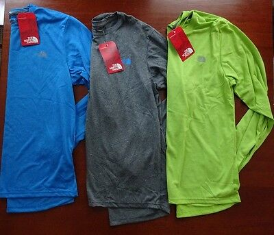 North Face Men's Long Sleeve Reaxion Amp Crew Tee NWT New Fall 2016 Line