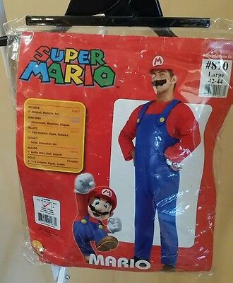 Super Mario Costume by Rubie's Costume Co. - Large 42-44 - Used Once