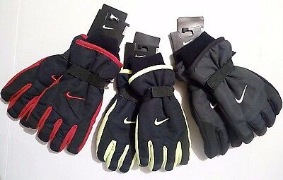 Nike WINTER SNOW SPORTS SKI GLOVES Insulated Black Red Yellow Youth OneSize 8-20