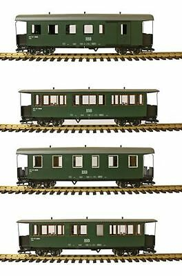 Train Line45 Complete Set 4 Piece HSB Traditional wagon, green G Scale