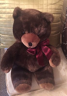 Harrods Plush Brown 1990 Teddy Bear - New and Rare