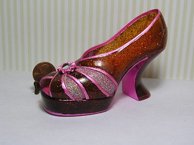 Decorative Shoe / Red Sparkles and Pink